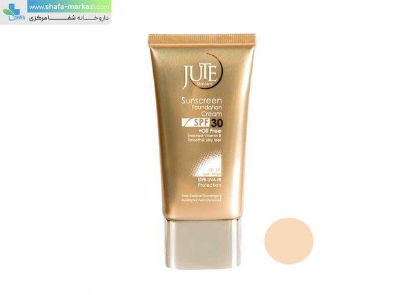 کرم-ضد-آفتاب-رنگی-SPF30-مناسب-پوست-چرب-بژ-روشن-ژوت