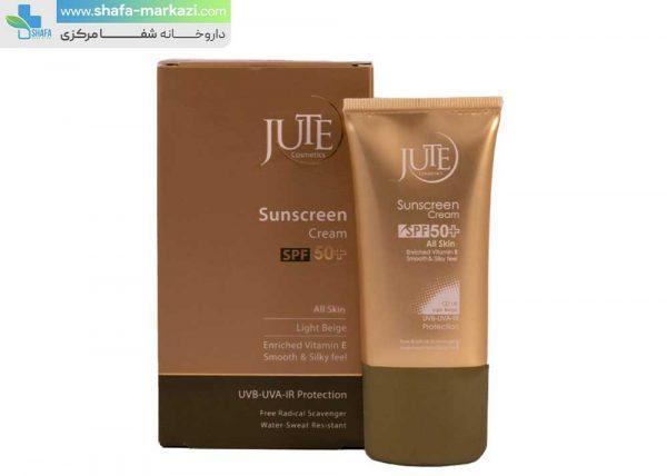 کرم-ضد-آفتاب-رنگی-SPF50-انواع-پوست-بژ-طبیعی-ژوت-1