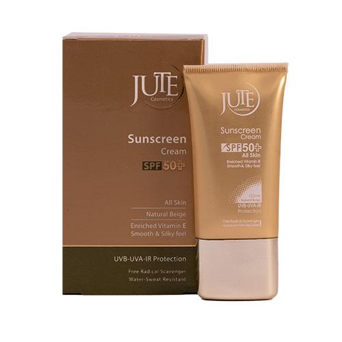 کرم ضد آفتاب رنگی SPF50 مناسب انواع پوست -بژ طبیعی ژوت