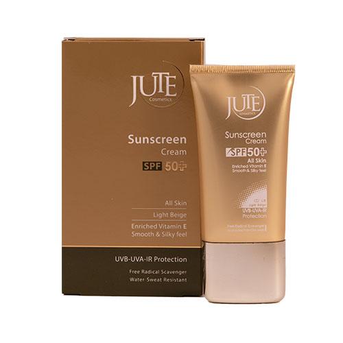 کرم ضد آفتاب رنگی SPF50 مناسب انواع پوست -بژ روشن ژوت