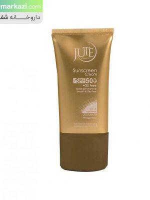 کرم-ضدآفتاب-SPF50-مناسب-پوست-چرب-بژ-روشن-ژوت