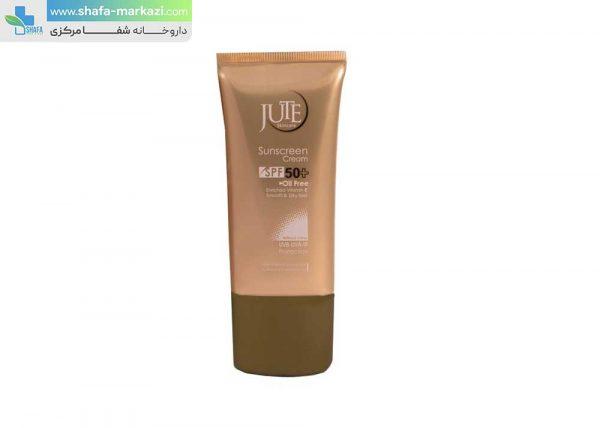 کرم-ضد-آفتاب-بی-رنگ-SPF50-مناسب-پوست-چرب-ژوت