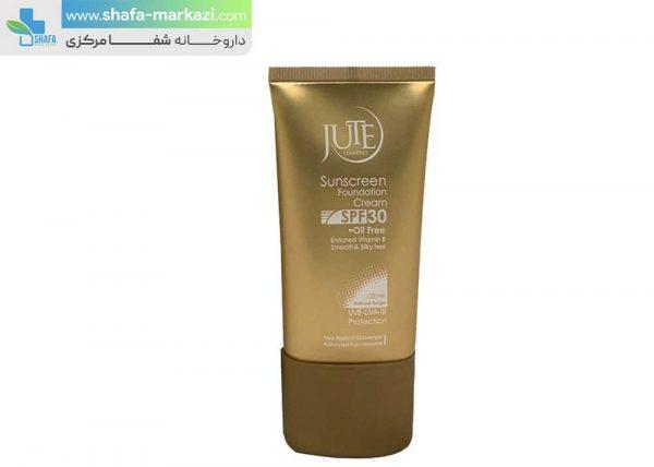 کرم-پودر-حاوی-ضد-آفتاب-پوست-چرب-ژوت-با-SPF30-بژ-طبیعی