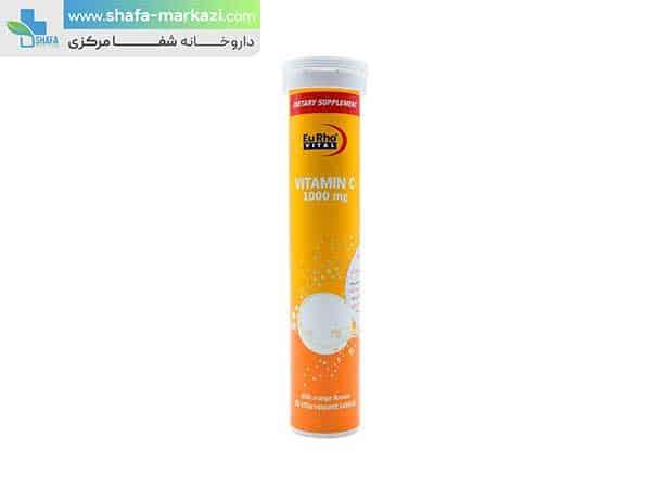 قرص-جوشان-ویتامین-سی-1000-میلی-گرم-یورو-ویتال