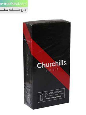 کاندوم-چرچیلز-با-فرم-بدنه-ساده-حاوی-اسانس-وانیل-و-روان-کننده