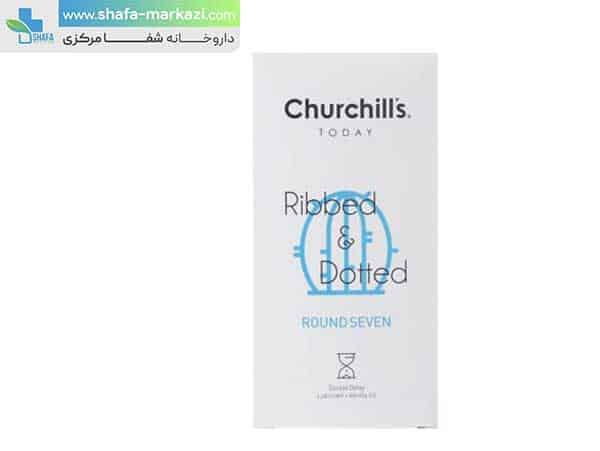 کاندوم-چرچیلز-مدل-Ribbed-And-Dotted-بسته-12-عددی