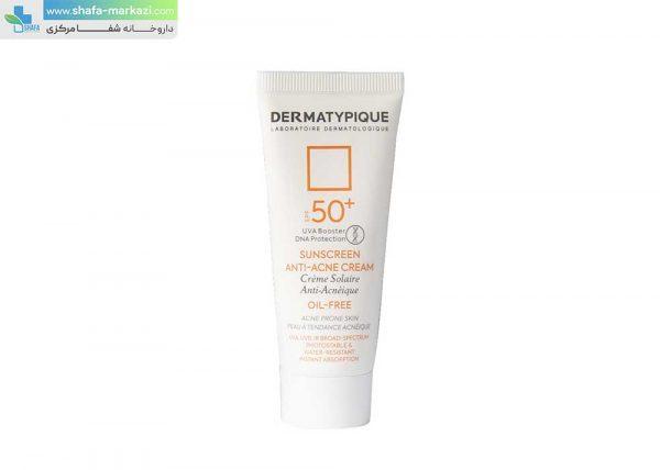 کرم-ضد-آفتاب-بی-رنگ-آکنه-درماتیپیک-SPF50-مناسب-پوست-های-چرب-و-جوش-دار