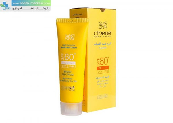 کرم-ضد-آفتاب-SPF60-سینره-مناسب-پوست-های-معمولی-تا-خشک-بدون-رنگ-1