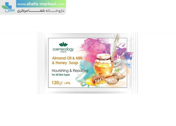 صابون-روغن-بادام-و-شیر-و-عسل-کاسمکولوژی-1