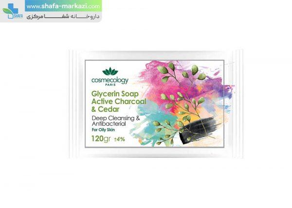 صابون-گلیسیرینه-زغال-و-سدر-کاسمکولوژی-1